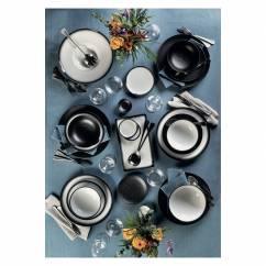 CAVIAR BLACK Dipschale 10 cm, Premium-Keramik