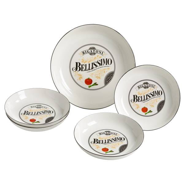 BELLISSIMO Pasta Set 5-teilig, Porzellan, in Geschenkbox