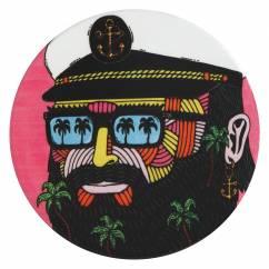MULGA Untersetzer rund, 10,5 cm, Captain, Keramik - Kork