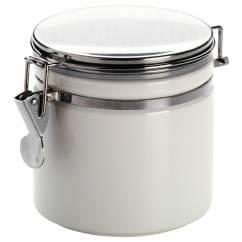 CLIP Vorratsdose Weiß, 0,5 l, Porzellan - Metall