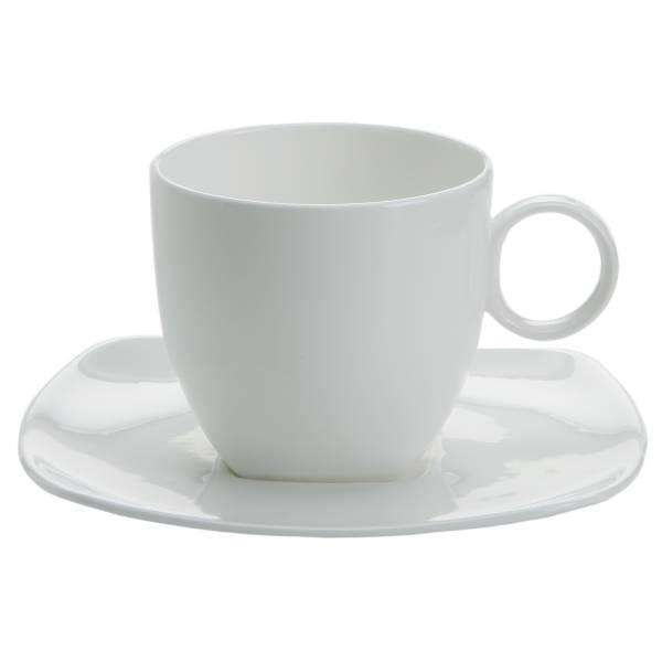 CASHMERE SQUARE Tasse mit Untertasse 260 ml, Bone China Porzellan