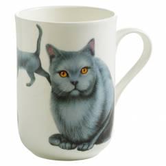 PETS Becher Kartäuser Katze, Bone China Porzellan, in Geschenkbox