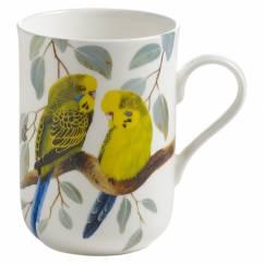 BIRDS OF THE WORLD Becher Wellensittich, Bone China Porzellan, in Geschenkbox