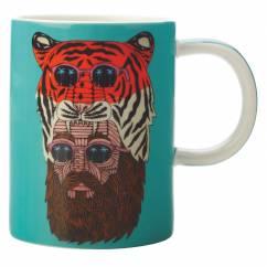 MULGA Becher Tiger Man, Porzellan, in Geschenkbox