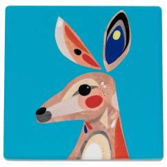 PETE CROMER Untersetzer Kangaroo, Keramik - Kork