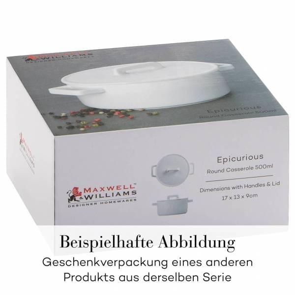 EPICURIOUS Auflaufform 31 x 24 x 7,5 cm, Porzellan, in Geschenkbox