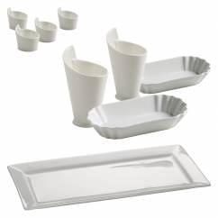 WHITE BASICS Grill-Set