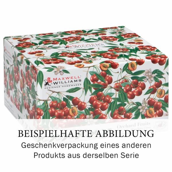 ORCHARD FRUITS Frühstückstasse mit Untertasse Trauben, Bone China Porzellan, in Geschenkbox