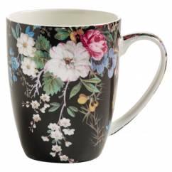 KILBURN Becher Midnight Blossom, Bone China Porzellan, in Geschenkbox