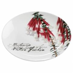 BOTANIC Teller Floral Fuchsie, 15 cm, Bone China Porzellan, in Geschenkbox